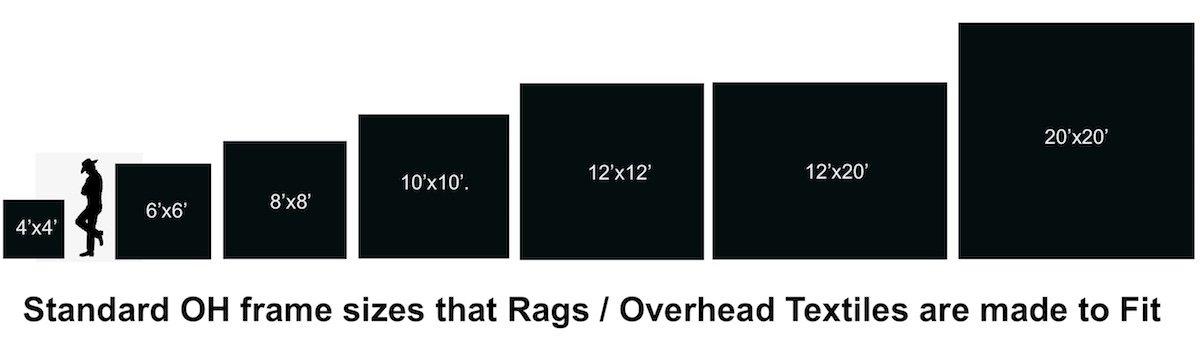 Size Chart Standard Overhead Frames